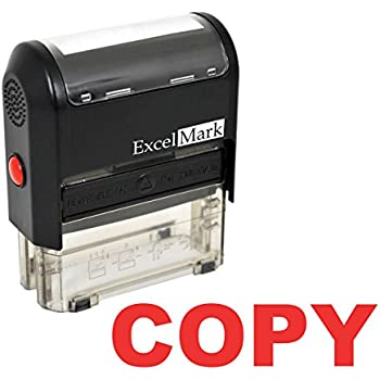 COPY Imprint 360 AS-IMP1003 Laser Engraved for Clean Precise Imprints Red Ink 9/16 x 1-1/2 Impression Size Heavy Duty Commerical Quality Self-Inking Rubber Stamp