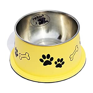 PETISH Spaniel Bowl for Long Ear Dog - Ergonomic Personalized Custom Design Bowls, NO Tip Stainless Dish 47