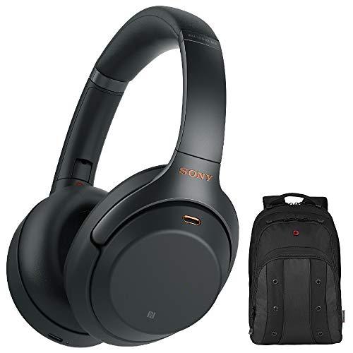 Sony WH-1000XM3 Wireless Noise-Canceling Over-Ear Headphones (Black) with Bonus Swiss Gear Wenger...