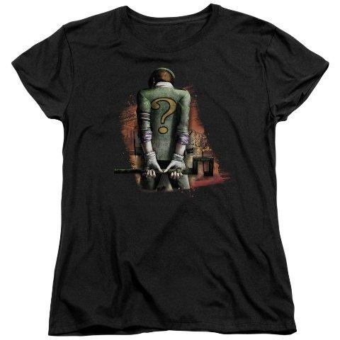 - WickedTees Womens ARKHAM CITY Short Sleeve RIDDLER CONVICTED XXLarge T-Shirt Tee