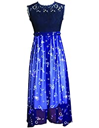 France CG Women's Elegant Floral Lace Dress Sleeveless Evening Party Summer Dress 853C022