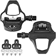 ROCKBROS Bike Pedals Road Bicycle Pedals Cleats Set Clipless Pedals Compatible with Look KEO Structure