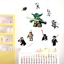 YODA Star War WALL STICKER 9 Characters Decal Removable WALL STICKER Kids Home Accents Room Decor