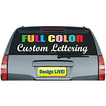 5964c4a5037 Custom Vinyl Lettering Stickers Personalized Text Live Design Decals (8  inch Width)