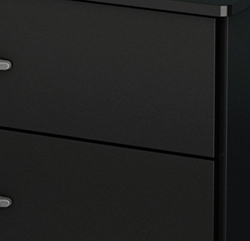 South Shore Libra 4-Drawer Dresser, Pure Black