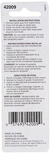 Dorman 42009 Spark Plug Non-Fouler - 18mm Gasket Seat, Pack of 2