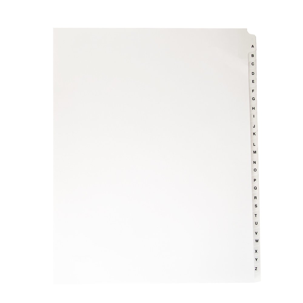 Blumberg Alphabetical, Letter Size, Side Tabbed, Index Tab Dividers, Collated Set of 26 Letters A-Z (10 sets)