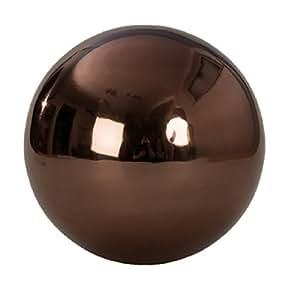 XXL bola decorativa aprox. Ø 30cm en color marrón acero inoxidable Rose bola jardín Navidad