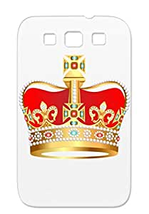 Red Crown Symbols Shapes Kingdom Queen King Throne Coronation Orange Cover Case For Sumsang Galaxy S3 Red3