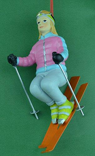 Girl Snow Skier Christmas Ornament - Warehouse Skiers Snow