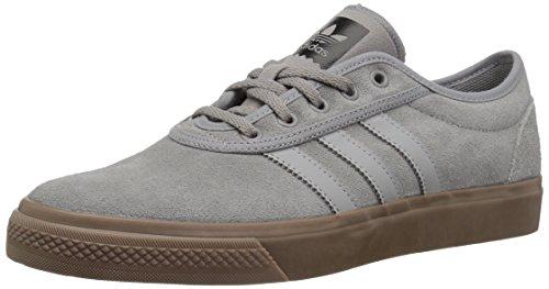 adidas Originals adi-Ease Skate Shoe, Solid Grey/Gum, 4.5 M US