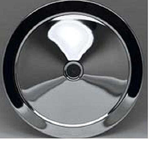 Chevrolet 14 Inch Open Element Replacement Chrome Air Cleaner Top Rick' s Corvette & Custom Chevy Products 14477