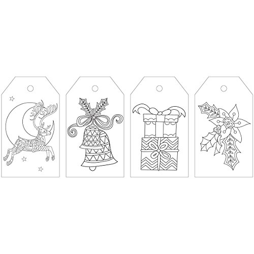 Kaisercraft Christmas Cheer Kaisercolour Coloring Tag (24/Pack) by Kaisercraft