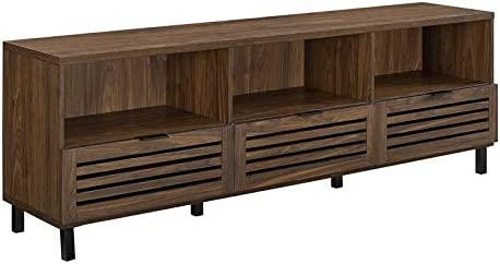 Pemberly Row 70″ Slat Door TV Stand Console