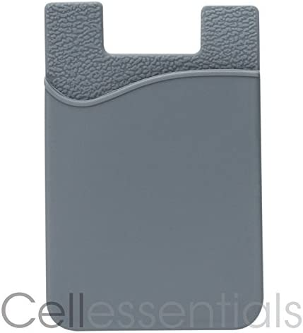 Cell Phone Wallet by Cellessentials: (for Credit Card & Id) | Works with Almost Every Phone | iPhone, Android & Most Smartphones | 3 Pc Pack (Black, Grey & Pink) 41yuHlIlLzL