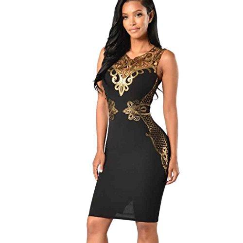 Washed Velvet Dress In Black (Goddessvan Women's Elegant Lace Bodycon Sleeveless Evening Party Pencil Mini Dress (S, Black))