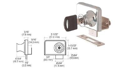 "CRL Chrome Plated Lock for 3/8"" Double Glass Doors - Keyed Alike"