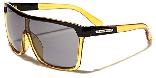 Biohazard Oversized Flat Top Shield Sunglasses