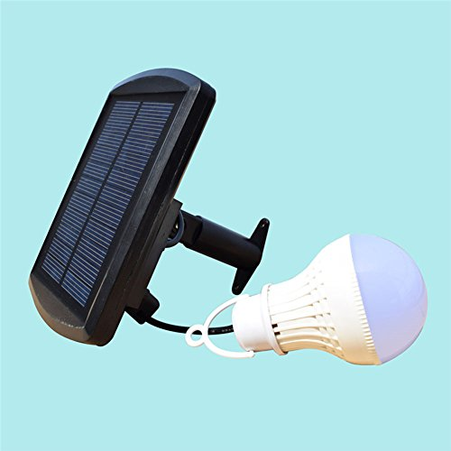 Hansuo Portable Solar Panel LED Bulb Lights,outdoor Solar Energy Lamp Lighting for home Hiking Camping Tent Fishing & Other Outdoor Activities