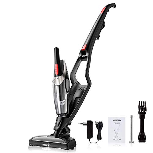 Homasy Cordless Vacuum Cleaner, 2-in-1 Stick and Handheld Vacuum Cleaner with Super Strong Suction, Lightweight Bagless Vacuum LED Headlights for Carpet and Hard Floor