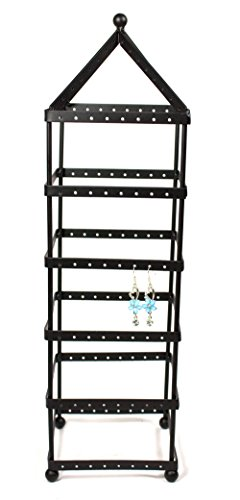 108 Pairs Tower Metal Black Color Earring Holder / Earring Tree / Earring Organizer / Earring Stand / Earring - Stand Shape Earring Tree Display