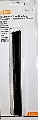 HDX 6 in. Mini and Close Quarters Hacksaw Replacement Blades (Saw Close Hand Quarter)