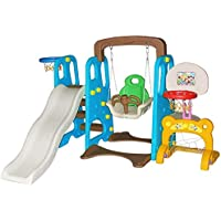 Toddler Climber and Swing Set Combination of Swing Slide for Outdoor & Indoor & Garden Playground,B