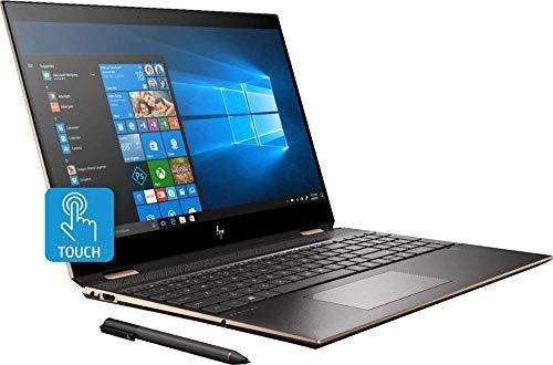 "HP Spectre x360 Convertible 2 in 1 Laptop, 10th Gen Intel Quad-Core i7-10510U, 15.6"" 4K UHD IPS Touchscreen, 16GB DDR4 512GB PCIe SSD, 2GB MX250 WiFi ThunderboltRGB Backlit KB FP Digital Pen Win 10"