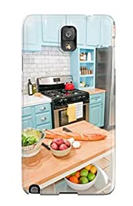 Awesome Design Blue Cabinetry In Kitchen Hard Case Cover For Galaxy Note 3