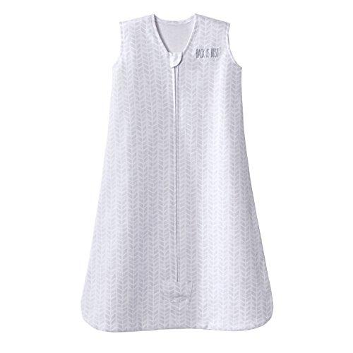 100% Cotton Sleepsack Wearable Blanket Platinum Series, Pale Grey Cheveron, Medium