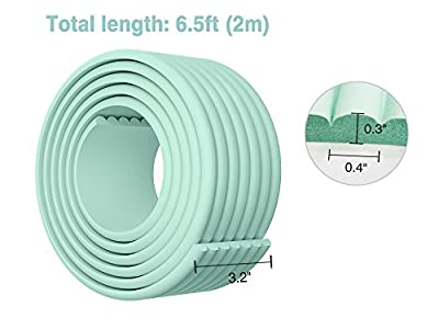 BABY BBZ Edge and Corner Guard - Light Green - Kids Safety Bumper Baby Proofing Corner Protector 6.5 ft Multifunctional