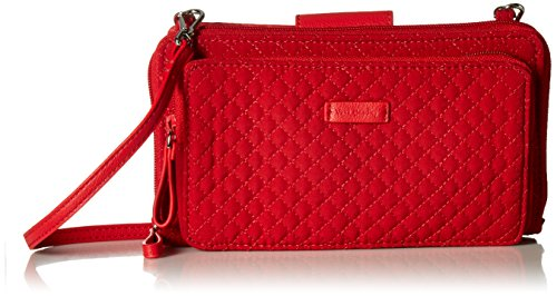 Cardinal Red Womens Cross - Vera Bradley Iconic Deluxe All Together Crossbody, Microfiber, Cardinal Red
