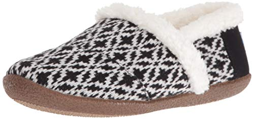 - TOMS Women's Slipper, Black/White Fair Isle, 7 M US