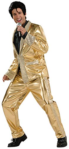 (Elvis Now Grand Heritage Collection Deluxe Gold Lame Costume, Gold, Large)