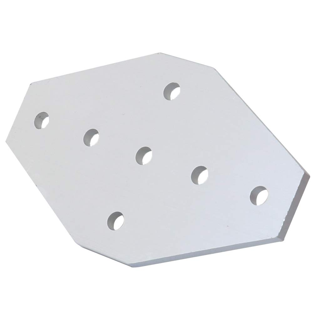 Boeray 7 Hole Cross Joining Bracket Plate for Aluminum Extrusion Profile 4545 Series, 7 Hole Joint Plate
