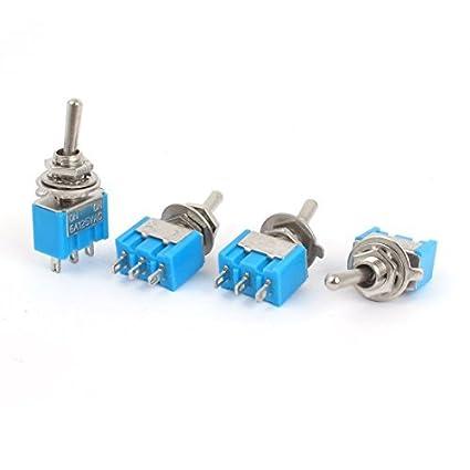 AC125V 6A SPDT 3P ON-OFF 2 posiciones de bloqueo del eje de balancín interruptor
