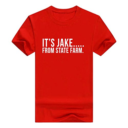 Llynice IT'S JAKE FROM STATE FARM funny commercial Mens Cotton (Jake From State Farm Shirt)