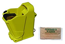 Maglula UpLULA Universal Pistol Loader Unloader 9mm-45ACP Lemon + Nimrod\'s Wares Microfiber Cloth