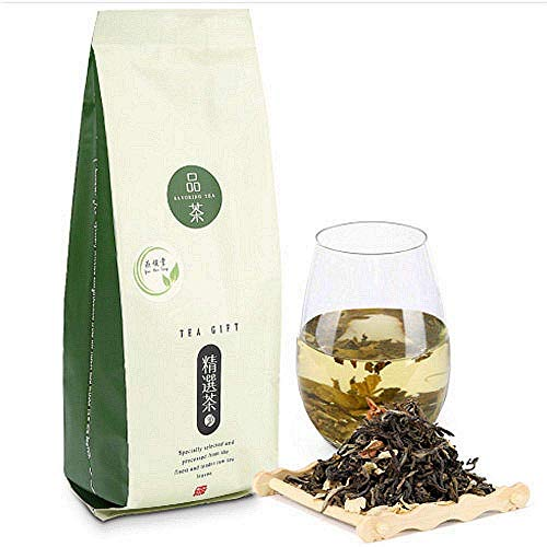 Yan Hou Tang Organic Jasmine Green Tea Loose Leaf - 100g Herbal Premium Chinese Leaves Naturally Flower Scented Tea for Antioxidants Stress Relieve