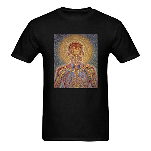 Alex Grey T-shirts (Alex Grey Men's T shirt, Fashion Short Sleeve Cotton Shirt L Large Black)