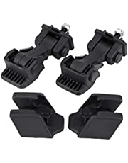 Acouto Car Hood Latches Brackets, 2 Set of Hood Latch Safety Catches & Brackets for TJ 97-06 55176636AD 55395652AC