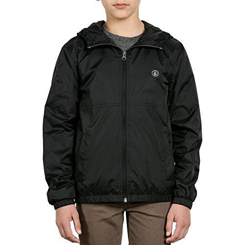 Volcom Big Boys' Ermont Hooded Windbreaker Jacket, Black, Small