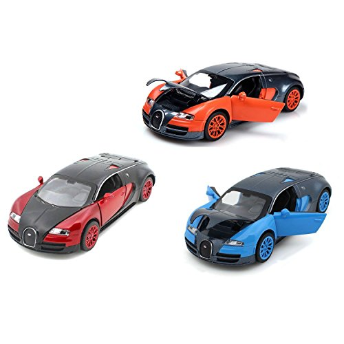 ZHMY 1:32 Bugatti Veyron Alloy Diecast car Model Collection Light&Sound (red+Blue+Orange) from ZHMY