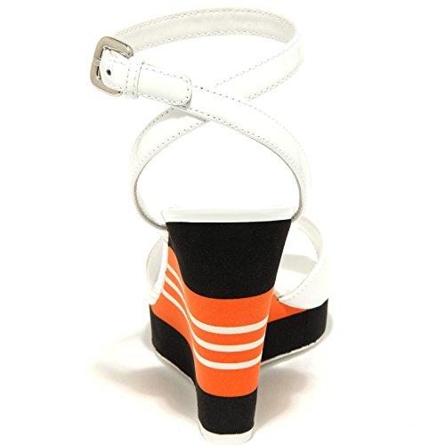 Women Prada Scarpa Bianco Sport Zeppa Sandalo Donna 53340 Shoes B0rBf