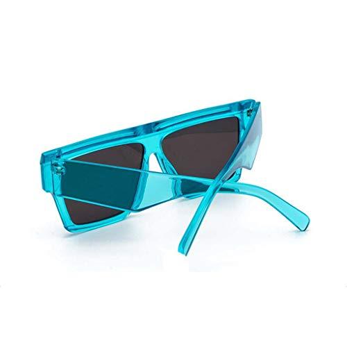 3f0e25c829 De Imjono Polarisées,oversize Cadre Miroir Lunettes Uv Soleil Verres Mode  Bleu Pour Lens Protection Plats Femme Rétro SxTgSnrI