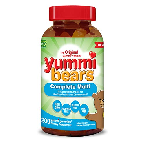 Yummi Bears Complete Multivitamin and Mineral Supplement, Gummy Vitamins for Kids, 200 Gummies