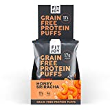 FitJoy Keto Protein Puffs, Gluten Free, Grain Free, Corn Free, Soy Free, High Protein, Low Carb Snacks, Honey Sriracha (6 - 1.05oz Snack-Size Bags)