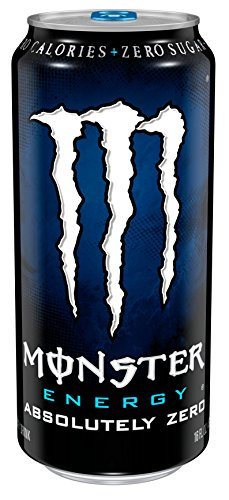 Monster Energy Drink, Absolutely Zero, 16 Ounce (Pack of 24) (Purple Monster)