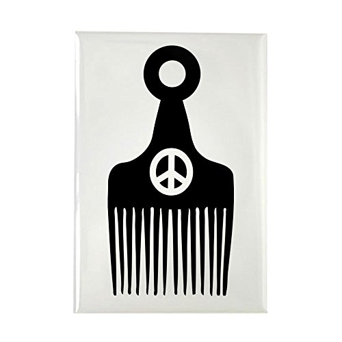 CafePress Afro Hair Peace Rectangle Magnet Rectangle Magnet, 2