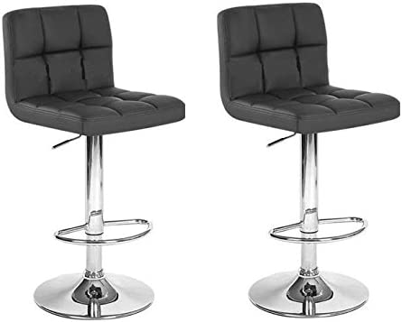 South Mission Chic Modern Adjustable Synthetic Leather Swivel Bar Stool